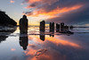 Coledale Sunrise (RoamingSkies) Tags: sunrise reflections colour water beach ocean australia sydney wollongong clouds seascape morning early