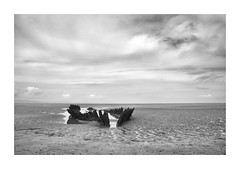 Ocean bones (Illogical_images) Tags: burnhamonsea ss nornen illogicalimages sony a7r shipwreck bnw mono blackandwhite old