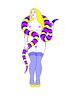 07_CHARMER (VonMurr) Tags: drawing vector girl fluo tricolor silkscreen serigraphy nimfywkwiaciarni maurycygomulicki kwiaciarniagrafiki charmer