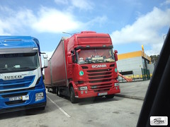 Scania R490 Topline Tandem Curtain Sider - Portugal (Freggs) Tags: a17 rigid scania r490 topline tandem curtain sider portugal