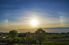Summertime sundogs in cirrus clouds. (EQG64LOQDXKYEIAPTYHNDN5KHB) Tags: päikesekoerad sundogs suvised suvi summer cirrus clouds kiudpilv kiudpilved halo atmosfäär atmospheric eesti tartu estonia