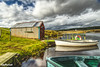 My Favourite Boat Shed (ALANSCOTT1) Tags: scotland lanarkshire strathaven angling fishing trout browntrout spring hut sky boats reservoir hills happy water nature light clouds landscape lake old