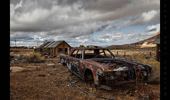 A Presidential Ride (Whitney Lake) Tags: derelict desolate desert mining shack continental lincoln goldfield nevada ghosttown rust decay abandoned