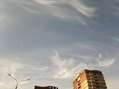 spring afternoon sky (Black Coyote Ole) Tags: sky clouds city afternoon beautifulsky serenity blue