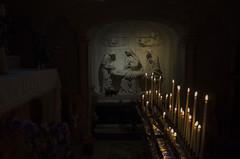 Aiguèze   0721r (davidbruyere34) Tags: cierges prière chapelle jésus repos marie dieu bougies religion églises aiguèze