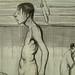 DAUMIER Honoré,1839 - Leçon de Natation (Maison de Balzac) - Detail 2