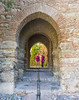 The Girls at the Moorish Arch (dcnelson1898) Tags: travel vacation malaga spain alcazaba moorish moors palace
