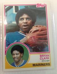 1983 Topps  Baseball Card Bryan Clark (Steve Aynes) Tags: sportcards mlb mariner seattle sports card baseballcard