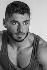 Model Dimi Bozinovski (Joe Eisel) Tags: columbus ohio usa model portrait male man fit fitness body builder bodybuilder dimitar beard monochrome black white bw blackandwhite tamronsp70200mmf28divcusd