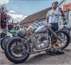 Built not Bought (blokesandbikes) Tags: 650cc bikes buntingford hertsandessexairambulancerun triumph eyp100c hardtail motorcycle