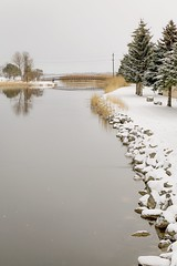 Good News (Note-ables by Lynn) Tags: landscape water snow bridge owensound greycounty georgianbay