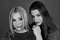 Black and White (piotr_szymanek) Tags: kornelia korneliaw olivia oliviad portrait girlgirl blackandwhite studio woman young skinny milf face eyesoncamera 1k 20f 5k 50f 10k closeup 20k