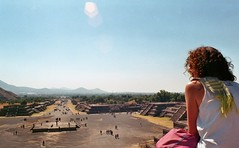 View from the pyramid of the Moon in Teotihuacan (Mexico) (jaymgee14) Tags: mexico teotihuacan pyramids ruins temple bluesky blue sky