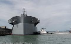 "Pier 35 USNS Hershel ""Woody"" Williams 4-2018 (daver6sf@yahoo.com) Tags: portofsanfrancisco pier35 navyship cruseship p35 hershelwilliams"