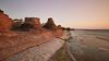 Raukar i kvällssolen (Cajofavi) Tags: fs180422 formation fotosondag byrum öland raukar sky sea coast rock seastacks nd sweden longexposure water