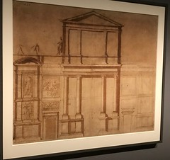 """Michelangelo_Demonstration Drawing for the """"First Design"""" of the Facade of San Lorenzo (Hiero_C) Tags: art drawing italian renaissance michelangelo newyork metropolitanmuseum"""