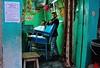 India- Rajasthan- Alsisar (venturidonatella) Tags: india asia rajasthan alsisar portraits ritratti people persone gentes nikon nikond300 d300 colori colors emozioni emotion sguardo look barber barbershop sedia chair verde green azzurro blue tenda tent
