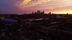 Minneapolis - Aerial Springtime Sunset (Gian Lorenzo) Tags: 4k above aerial aerialshot aerialview america architecture building buildings business city citybackground cityview cityscape commercial district downtown droneview epic establishing establishingshot establishment evening flyover flying helicopter highrise landmark metropolis midtown minneapolis minnesota modern new night nopeople overlooking panorama panoramic professional realestate seamlesslooping sky skyline skyscraper sunset tourism travel twincities urban usa