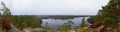 Sateinen maisema (mustohe) Tags: 2018 finland repovesi repovedenkansallispuisto canon panorama hugin kevät spring maisema landscape
