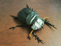 Dung Beetle  By Sipho Mabona  <CP Here> (ataman1970) Tags: insects origami creasepattern