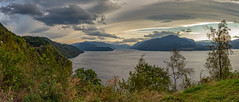 Storm-clouds (thilfrey) Tags: norway storm clouds sunrise fjord tree