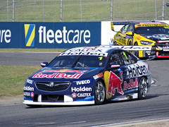 4 May 2018 - V8 Holden Commodore VB [1] (Jamie Whincup) leading V8 Holden Commodore VB [18] (Lee Holdsworth) through Fastbrake corner, during Supercars Friday event at Barbagallo Raceway, Neerabup, Perth, Western Australia (aussiejeff) Tags: zoom powershot sx620 canon aussiejeff jeffc 2018 v8 supercars barbagallo raceway neerabup perth westernaustralia wa australia motorsport holden commodore vb racing car race whincup holdsworth