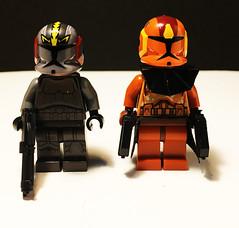 BLACKOUT and JET (501st DESIGNS) Tags: lego commander jet blackout