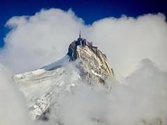 Aiguille du Midi, 3842 m. Chamonix. (elsa11) Tags: aiguilledumidi montblancmassif chamonix montblanc frenchalps alpes alps alpen mountains montagnes hautesavoie rhonealps france frankrijk glacier gletscher gletsjer snow sneeuw clouds