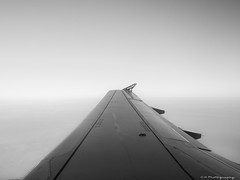 Cloud Cover (C.A.Photogenics) Tags: bw black white easyjet flight fly holiday wing boeing light contrast focus sharp