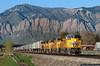UPS Train West of Ogden (jamesbelmont) Tags: railway unionpacific zdvsc ups trailers wasatch roy ogden emd sd70ah sd70m saltlakesubdivision