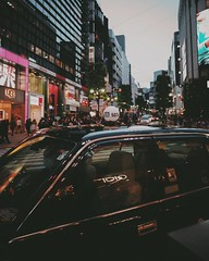 tokyo taxi (31lucass shots) Tags: japantokyo sonycamera primelens fe28mmf2 sonya7 sonyimages snapshot streetphoto japantaxi landscape cityscape japanstreet japanstreetshot japanimages shibuya tokyo japan