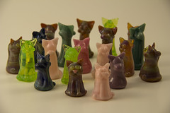 Glass Kitty City. (jakeg8300) Tags: glsss cat colors pretty hand made feline kitty