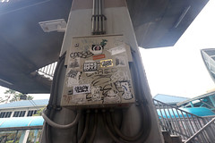 sticker graffiti near Sathorn pier 2 (_gem_) Tags: trip vacation holiday bangkok thailand city street urban graffiti streetart