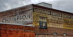 Monroe LA (4) (kevystew) Tags: louisiana ouachitaparish monroe us80 us165 advertisement adamscounty mural