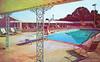 Jolly's Motel and Restaurant, Cave City, Kentucky (Thomas Hawk) Tags: america cavecity jollysmotelandrestaurant kentucky usa unitedstates unitedstatesofamerica vintage motel pool postcard swimmingpool fav10 fav25