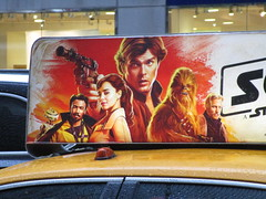 Solo Star Wars Movie Poster Taxi Cab Ad Fin 2147 (Brechtbug) Tags: solo a star wars movie poster taxi cab ad fin alden ehrenreich han donald glover lando calrissian joonas suotamo chewbacca woody harrelson tobias beckett may 2018 new york city portrait portraits eight story space opera film science fiction scifi robot metal man adventure galactic prototype design metropolis standee nyc billboard billboards posters 7th ave 42nd street ads advertisement advertisements 05162018 st avenue