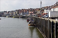 Whitby Dock (brianarchie65) Tags: whitby whitbypier lighthouse dock water boats fishermen church whitbychurch sands jetty flickrunofficial flickruk flickr ukflickr ngc unlimitedphotos canoneos600d geotagged brianarchie65 northyorkshire yorkshire