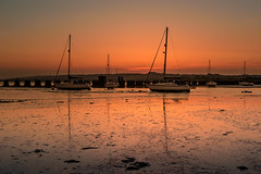 Low Water At Langstone (Sunset Snapper) Tags: lowwateratlangstone sunset langstoneharbour haylingisland hampshire southcoast uk lowtide mud wellies weed boats yachts tranquil peaceful softlight reflections filter lee nd grad nikon d810 2470mm may 2018 sunsetsnapper