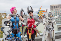 Zarya Mercy Reaper, Overwatch (irrational.photography) Tags: cos play cosplay anime japan comic book comicbook convention costume movie tv show dress up mascarade masquerade