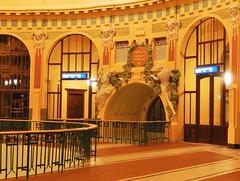 Art nouveau Prague (yon_willis) Tags: praha českárepublika prahahlavnínádraží česko railwaystation prague czechrepublic decor artnouveau praguemainrailwaystation europe 2014