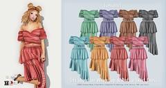 {amiable}Off Shoulder Wrap Top & Ruffle Skirt Dress@N°21 April(50%OFF SALE). (nodoka Vella) Tags: sl セカンドライフ amiable {amiable} nodoka nodokavella regin maybe n21 event clothing mesh maitreya tmp belleza slink classic sale 50off onepiece summer dress n°21 secondlife discount