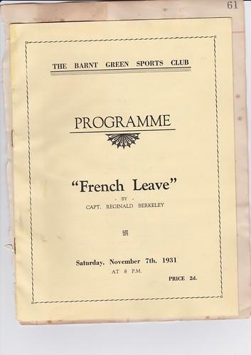 1931: Nov Programme 1