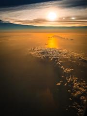 Gulf of Mexico's sunrise at 25,000 ft. (BikeColorado) Tags: sunrise gulfofmexico