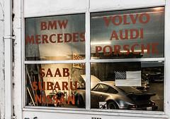 Window Shopping (llabe) Tags: street carrepair car garage porsche window downtown tacoma washington nikon d750