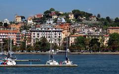 Beautiful Italy, greetings from La Spezia! (LaDani74) Tags: sea boats cityscape landscape liguria laspezia seascape spring italy italia travel canoneos760d tamron70300 town old architecture