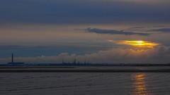 Sunset over Fawley (fstop186) Tags: sunset solent fawley powerstation gold orange sundown