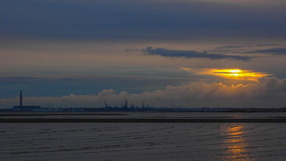Sunset over Fawley