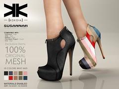 Susannah :: Ankle Boots :: 10 Colors ({kokoia}) Tags: boots susannah ankle mesh kokoia maitreya slink tmp belleza woman booty winter heel high booties botas bota shoes secondlife 3d