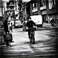 City Noise (Fouquier ॐ) Tags: city traffic bw processing antwerp belgium blackandwhite enlight quickshot photofox urban streetphotography