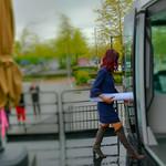 A Lady Professional Walks Onto the #SurreyLRT Mockup thumbnail